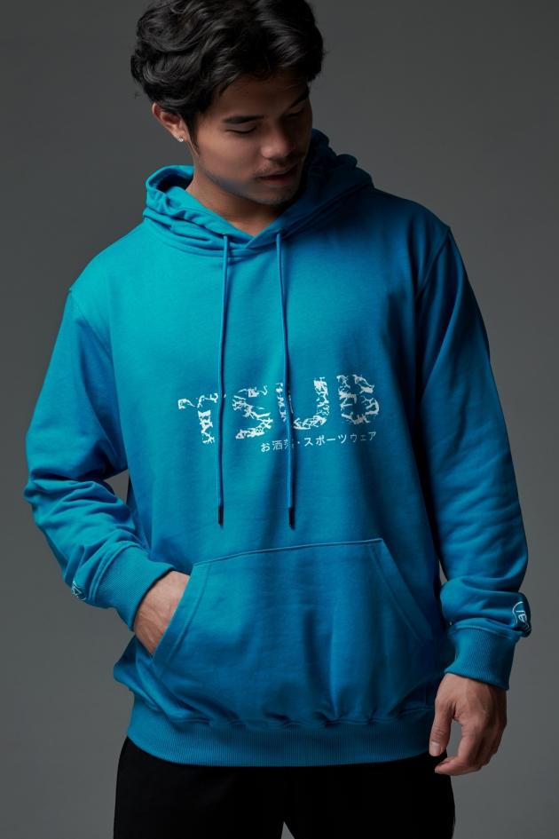爆裂紋LOGO<br>夜光帽T<br>藍 1